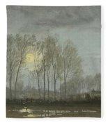 Moonlit Landscape Fleece Blanket