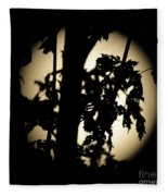 Moonlit Leaves No 1 Fleece Blanket