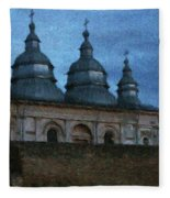 Moonlit Monastery Fleece Blanket