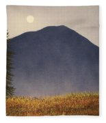 Moonlit Mountain Meadow Fleece Blanket