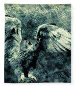 Moonlit Owl Fleece Blanket