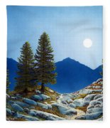Moonlit Trail Fleece Blanket