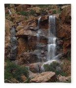 Moonlit Waterfall Fleece Blanket
