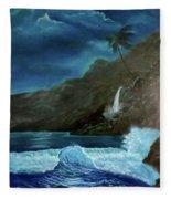 Moonlit Wave Fleece Blanket