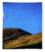 Moonrise Over Queenstown Fleece Blanket