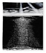 Moonrise Over The Atlantic  Fleece Blanket
