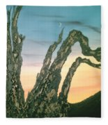 Moonset-bristlecone Pine Fleece Blanket