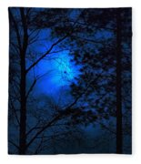 Moonshine 03 Bad Moon Rising Fleece Blanket