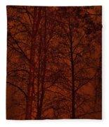 Moonshine 11 Red Sky Fleece Blanket