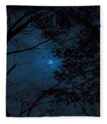 Moonshine 16 The Trees Fleece Blanket