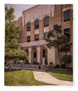 Moore County Courthouse Fleece Blanket