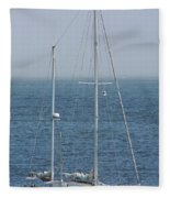 Moored In Matanzas Bay Fleece Blanket