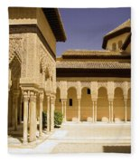 Moorish Architecture In The Nasrid Palaces At The Alhambra Granada Fleece Blanket