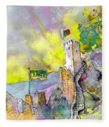 Moorish Castle In Sintra 01 Fleece Blanket