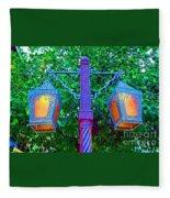 Moorish Lantern Fleece Blanket