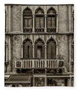 Moorish Style Windows Venice Monotone_dsc1450_02282017 Fleece Blanket