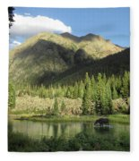 Moose In The Elk Creek Beaver Ponds Fleece Blanket