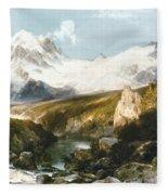 Moran: Teton Range, 1897 Fleece Blanket