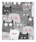 More Cats Fleece Blanket