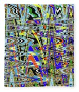More Colors Abstract Fleece Blanket