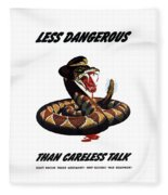 More Dangerous Than A Rattlesnake - Ww2 Fleece Blanket
