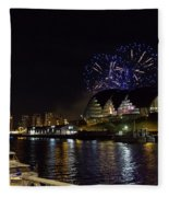 More Fireworks At Newcastle Quayside On New Year's Eve Fleece Blanket