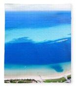 Moreton Island Aerial View Fleece Blanket
