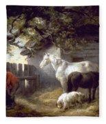 Morland: Farmyard, 1792 Fleece Blanket