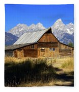 Mormon Row Barn 2 Fleece Blanket