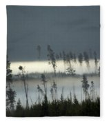 Morning Along The Madison Fleece Blanket