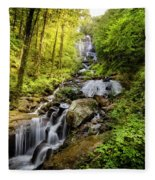 Morning At Amicalola Falls Fleece Blanket