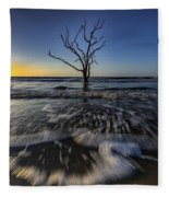 Morning At Botany Bay Plantation Fleece Blanket