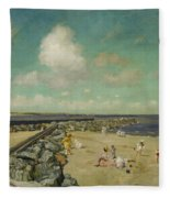 Morning At Breakwater, Shinnecock Fleece Blanket