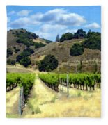 Morning At Mosby Vineyards Fleece Blanket