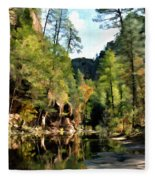 Morning At Oak Creek Arizona Fleece Blanket