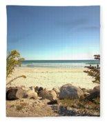 Morning At Qgunquit Beach. Fleece Blanket