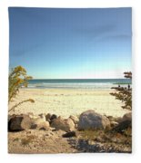 Morning At Qgunquit Beach. Fleece Blanket