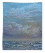 Morning At The Ocean Fleece Blanket
