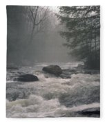 Morning At The River Fleece Blanket