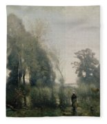 Morning At Ville Davray Fleece Blanket