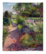 Morning Break In The Garden Fleece Blanket