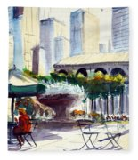Morning, Bryant Park  Fleece Blanket