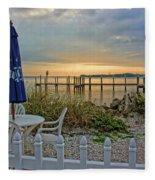 Morning By The Bay Fleece Blanket