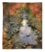 Morning By The Creek Fleece Blanket