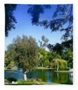 Morning By The Lake Fleece Blanket