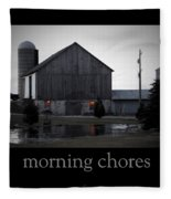 Morning Chores Fleece Blanket