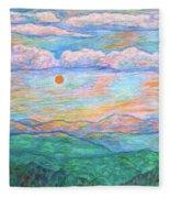 Morning Color Dance Fleece Blanket