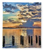 Morning Colors By H H Photography Of Florida Fleece Blanket