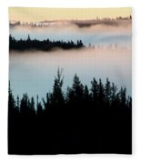 Morning Fog In Northern Saskatchewan Fleece Blanket