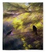 Morning Forest Light Fleece Blanket